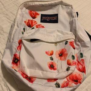 White poppy jansport backpack